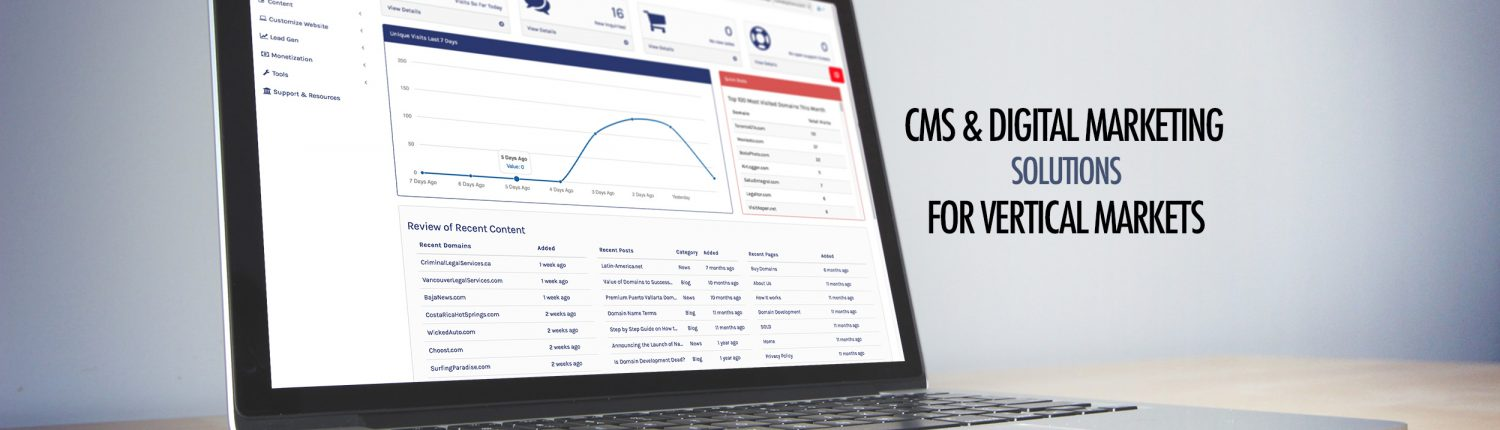 CMS & Digital Marketing Solutions for Vertical Markets